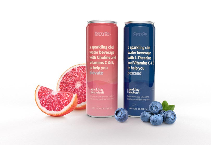 New CarryOn Sparkling CBD Waters Debut with Choline, L-Theanine and Vitamins C & E