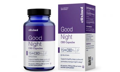 Elixinol CBD Good Night Capsules Launch with Full-Spectrum Hemp Sleep Blend