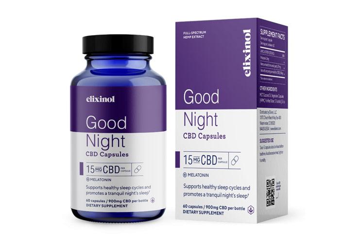 Elixinol CBD Good Night Capsules Launch with Full-Spectrum Hemp Sleep Blend