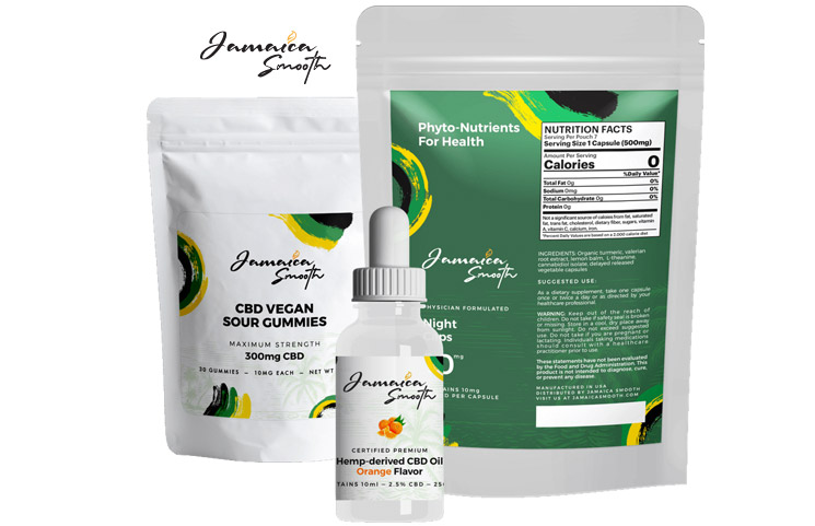 Jamaica Smooth CBD: Tinctures, Topicals, Capsules and Hemp Gummies