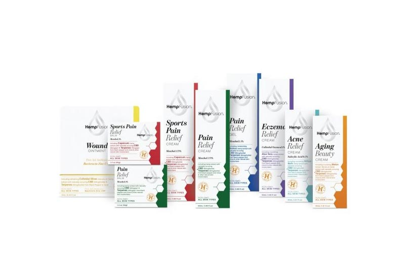 HempFusion Launches Topical CBD Pain Relief Creams and Balms