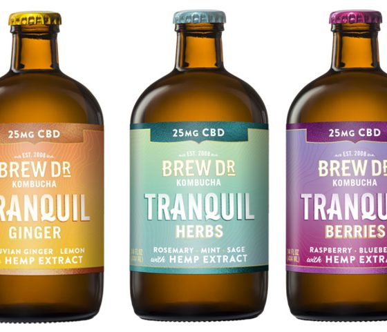 New Brew Dr Kombucha Tranquil CBD-Infused Line Debuts with Flavored Hemp Drinks