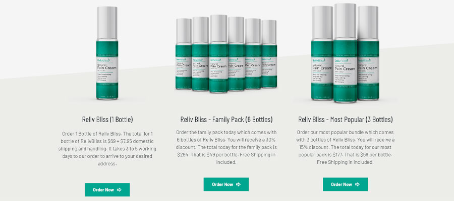 reliv bliss cbd cost