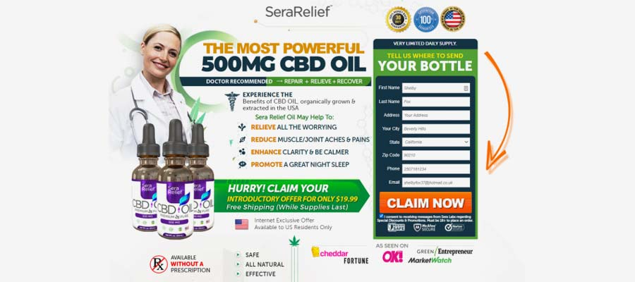 official sera labs relief cbd page