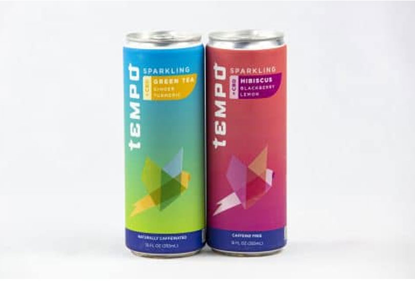 New Tempo CBD-Infused Sparkling Tea Drinks Debut with Herbal Formulas