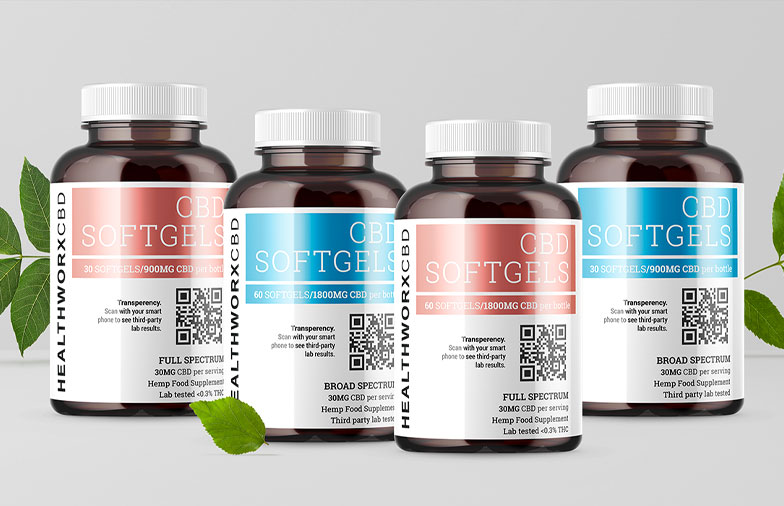 Healthworx CBD Debuts New Full and Broad Spectrum CBD Softgels