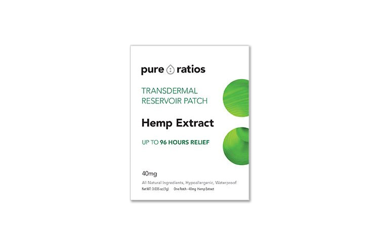 Pure Ratios Topical Hemp Patch: 96-Hour Transdermal Pain Relief Therapy
