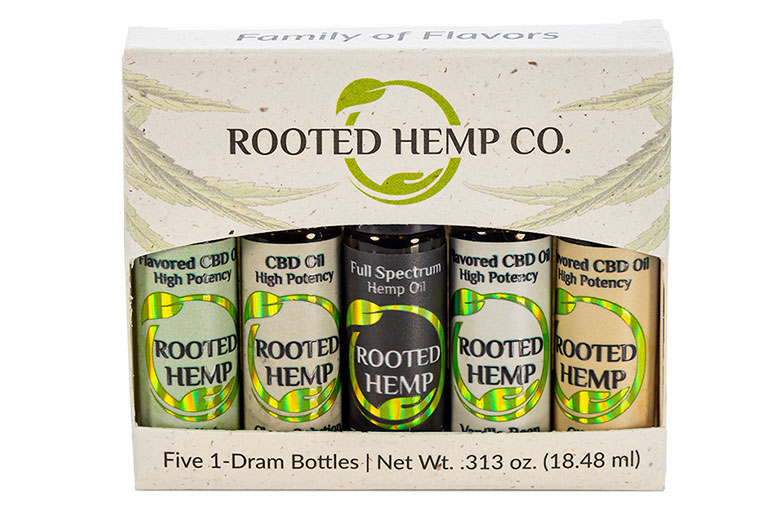 Rooted Hemp Full Spectrum CBD Oil with Extra Cannabinoids Ingredients