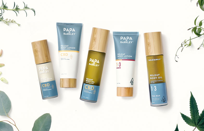 Papa & Barkley Cannabis-Infused THC Skincare Line Debuts with Releaf Products