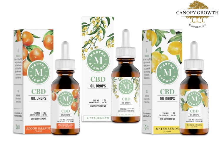 Martha Stewart CBD Launches Hemp Oil Products with Canopy Growth