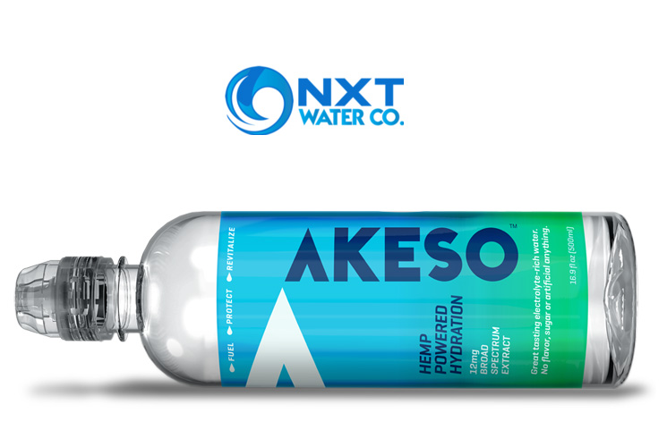 NXT Water Debuts AKESO Hemp Powered Hydration CBD Drink