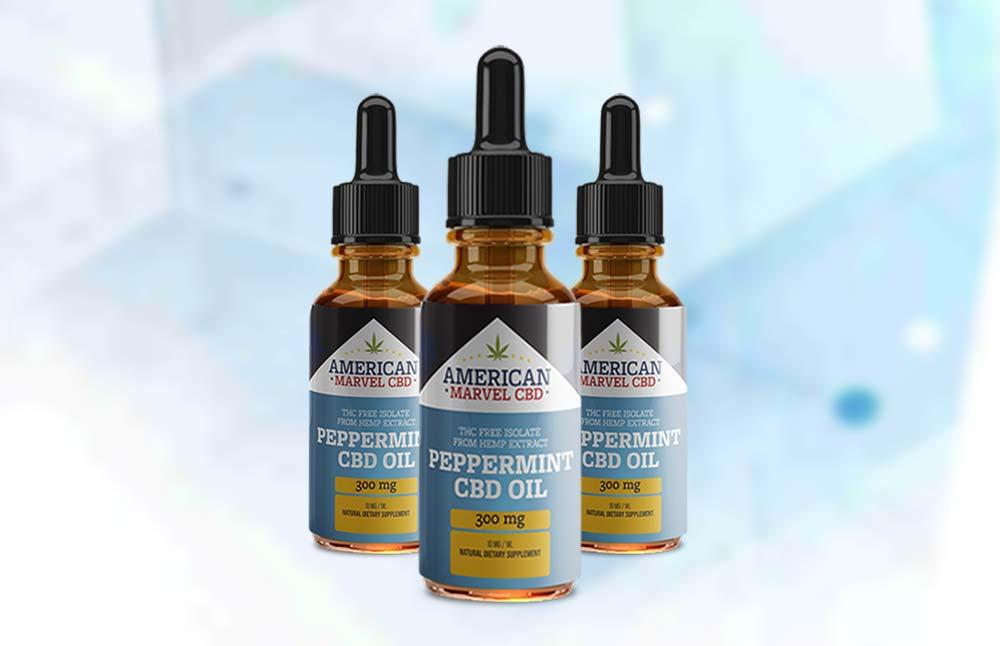 American Marvel CBD Hemp Oil Extract Peppermint