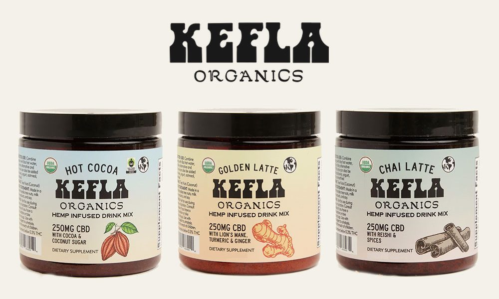 Kefla Organic CBD Hot Cocoa and Latte Hemp Infused Drink Mixes Launch