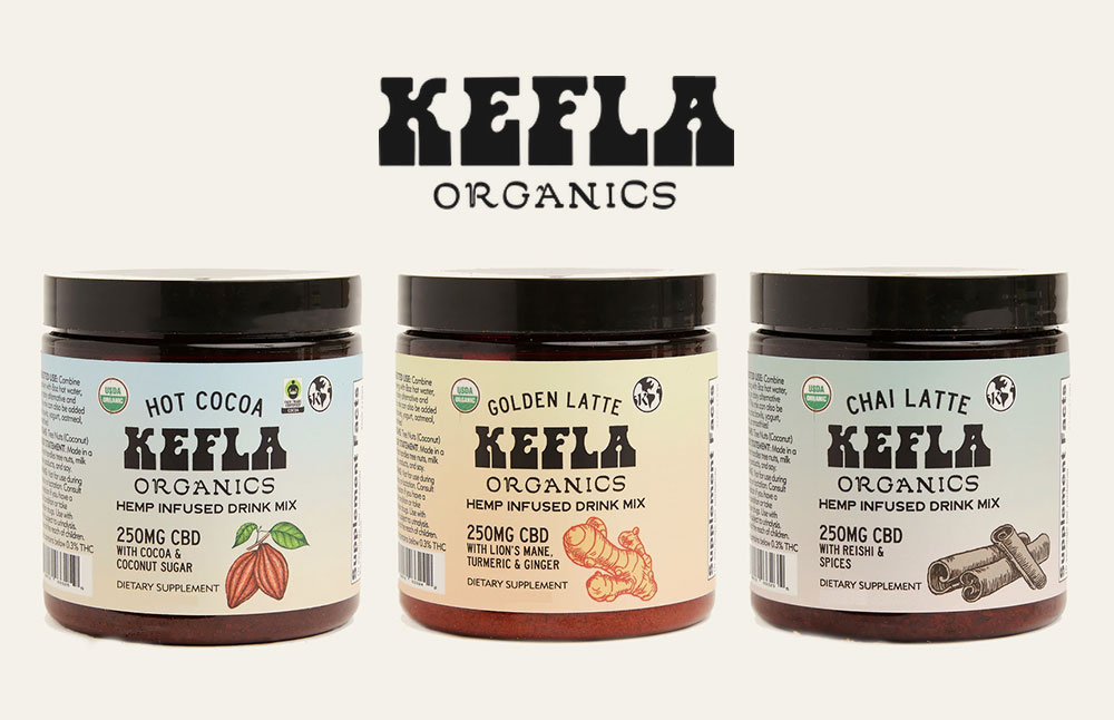 Kefla Organic CBD Hot Cocoa and Latte Hemp Infused Drink Mixes Launch