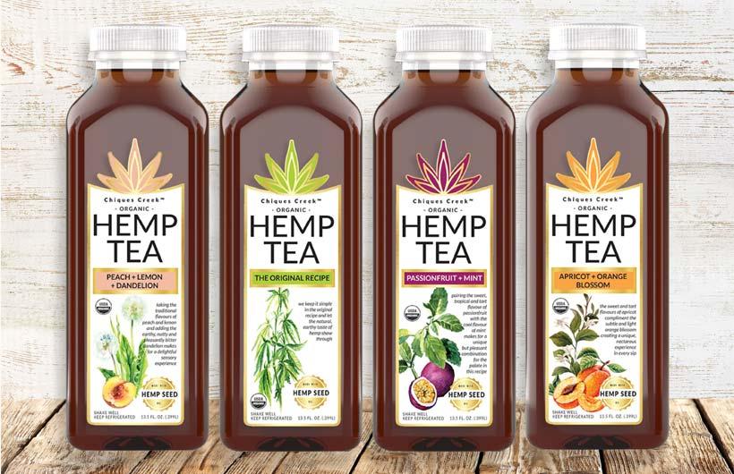 Chiques Creek Organic Hemp Tea Drinks are Now USDA Organic