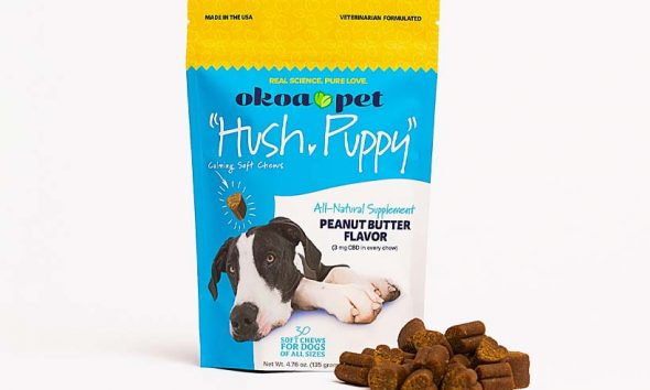 New Okoa Pet Hush-Puppy Calming Soft Chews for Dogs with CBD Launch