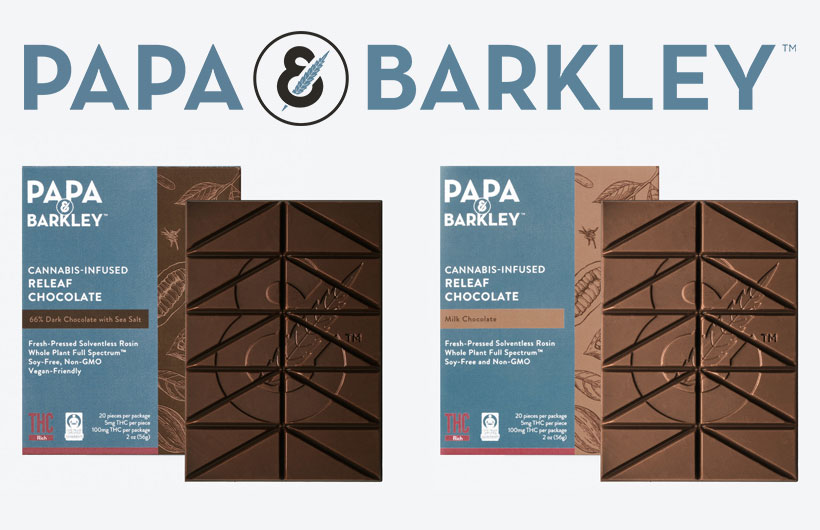 New Papa & Barkley Releaf Chocolates Edibles with THC are Fair Trade Certified