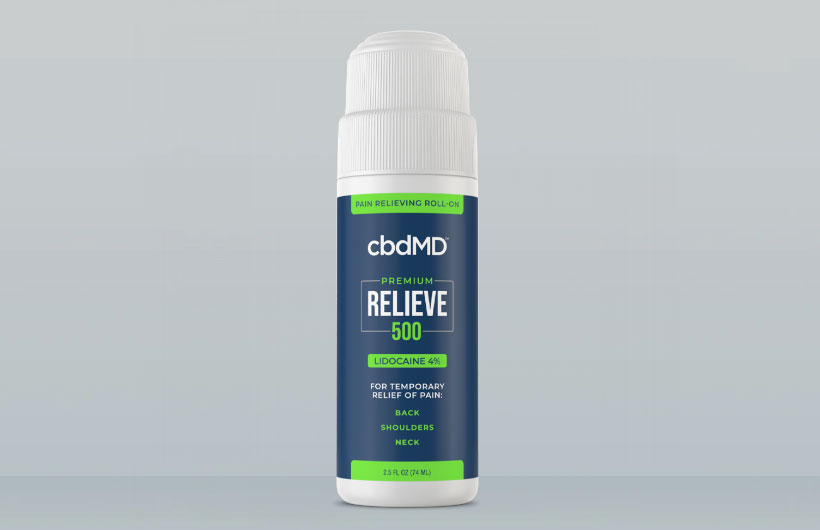 New cbdMD Premium Relieve Topical CBD with Lidocaine Debuts