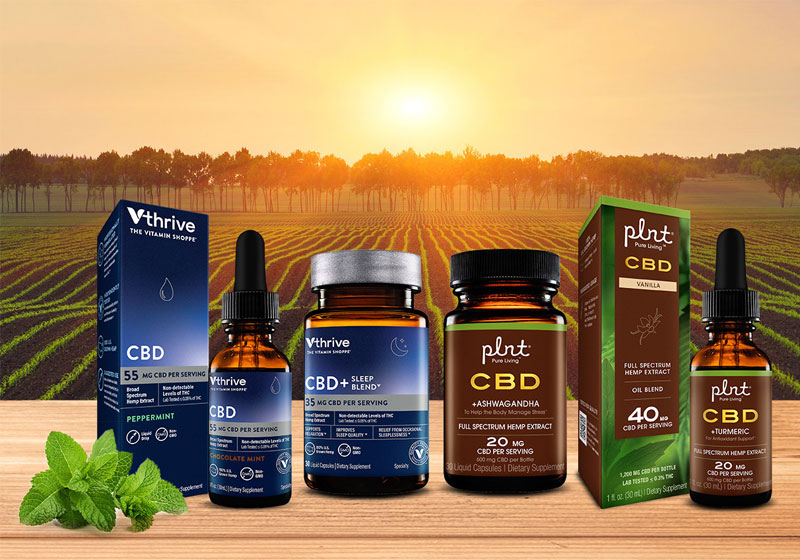 The Vitamin Shoppe Adds CBD Hemp Products to plnt and Vthrive Brands