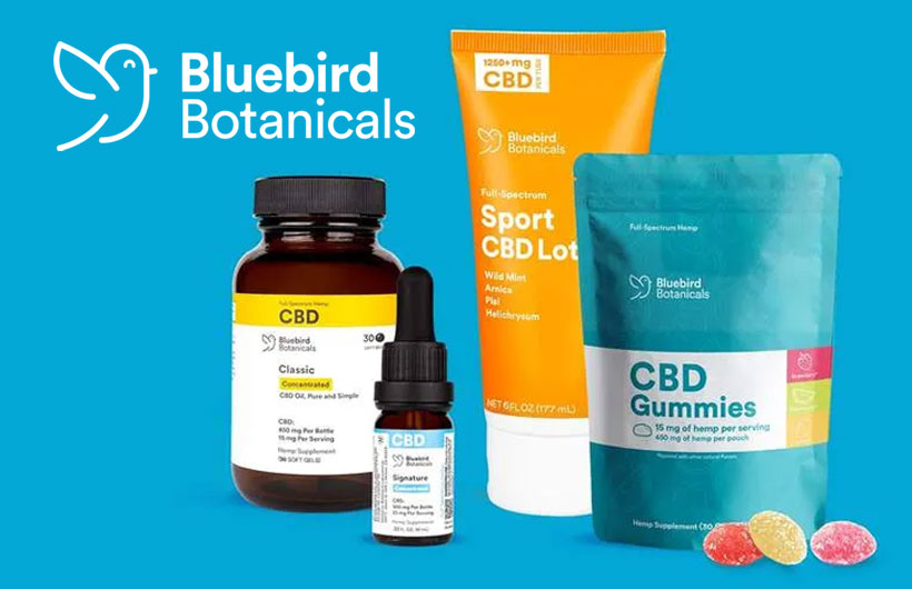 New Bluebird Botanicals CBD Products Added High Quality Oils