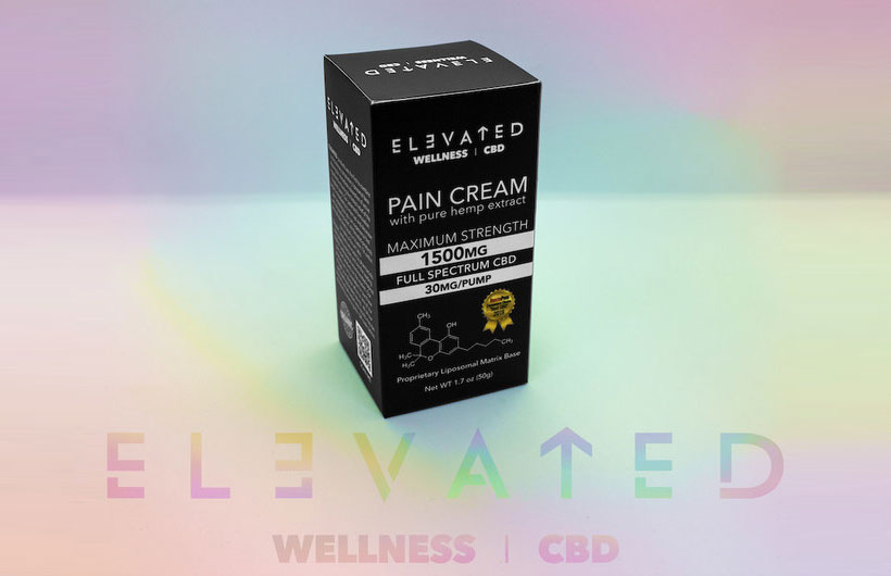 Elevated Wellness CBD Pain Cream with Pure Full Spectrum Hemp Debuts