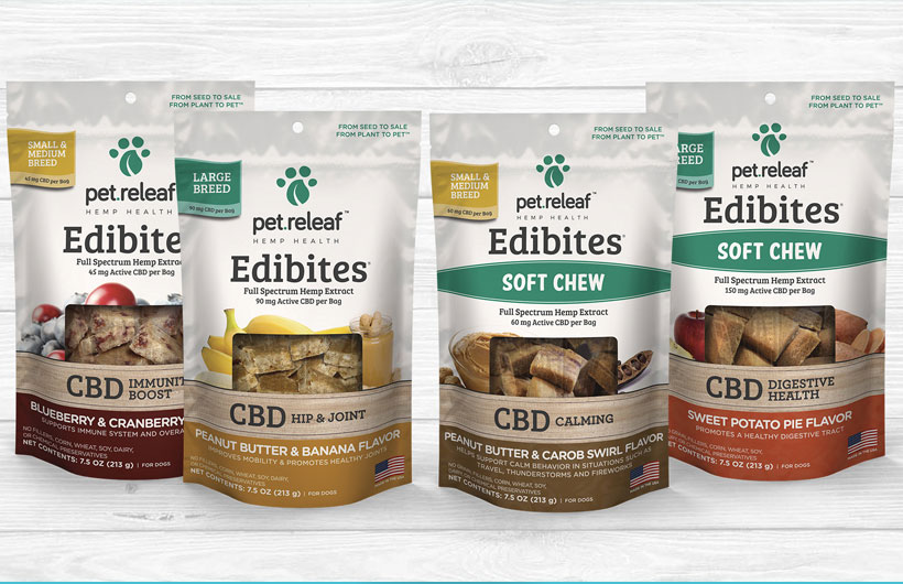 Pet Releaf CBD-Infused Edibites: Soft Chew Edibles for Dogs